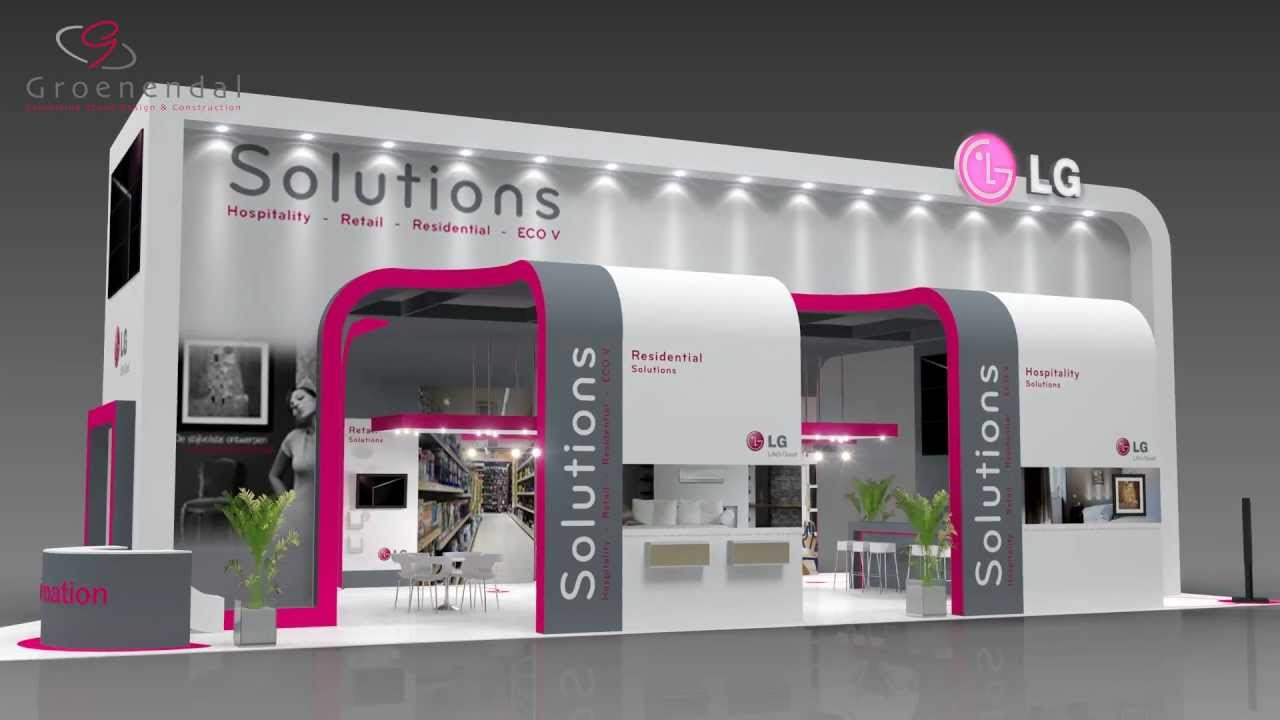 Exhibition Stall Rendering : Stand animation lg vsk beurs exhibition fach messe d