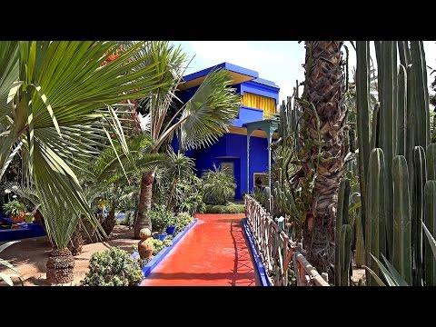 Jardin Majorelle Marrakech Morocco In 4k Ultra Hd