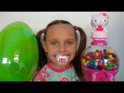 Bad Baby Victoria Gumballs Surprise Eggs Gross Annabelle & Crybaby Daddy Toy Freaks