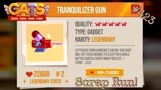 TRANQUILIZER GUN! OVERPOWERED!? *Scrap Run!* | C.A.T.S.: Crash Arena Turbo Stars #423