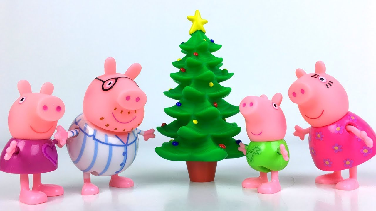 UNBOXING PEPPA PIG PRESENTS AND PIJAMAS CHRISTMAS TREE AND PRESENTS ...