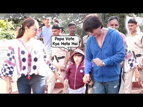 Shahrukh Khan Son Abram Khan  Innocently Asking About Voting @ Mumbai Election