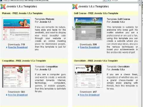 How To Download A Free Joomla Template From FreeHostia.com