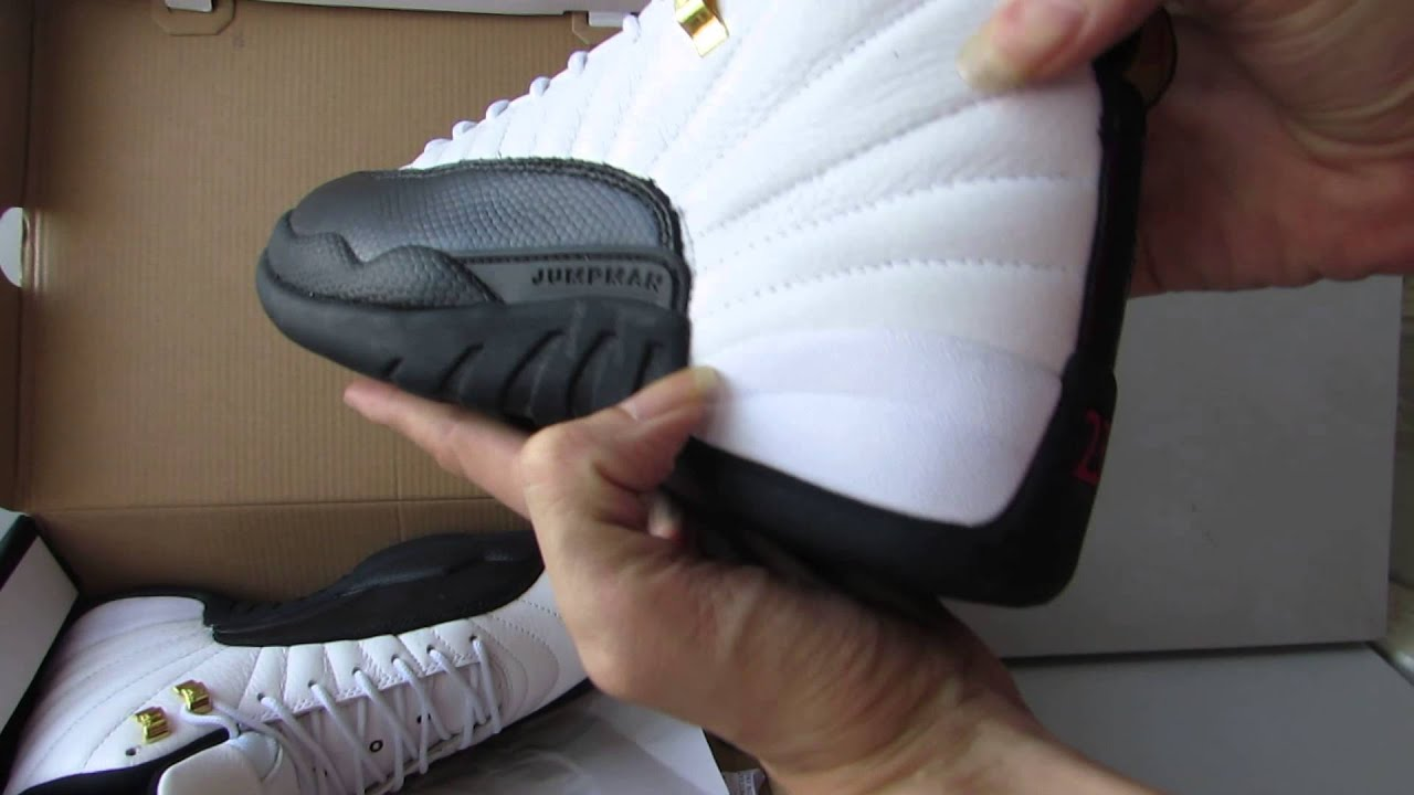 Air Jordan 12 Xii Original Og Taxi White Black Youtube
