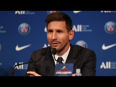 In full: Lionel Messi holds press conference in Paris following transfer to PSG