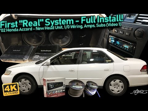 "First ""Real"" Sound System - Full Install! New Head unit, 1/0 Big 3 Wiring, Amps, Subs (Video 1)"