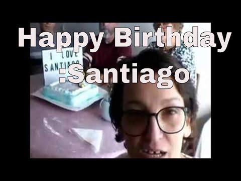 Happy Birthday :Santiago. Parabens :Santiago - 2 years old. 1st Feb 2018