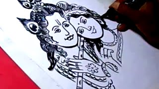 How to LORD RADHA KRISHNA Drawing For Kids step by step