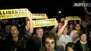 Manifestación en Barcelona a favor de la independencia de Cataluña