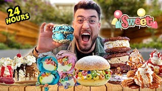I Only Ate SWEET Foods For 24 Hours & GAINED ___ WEIGHT ?! *SHOCKING* (IMPOSSIBLE FOOD CHALLENGE)