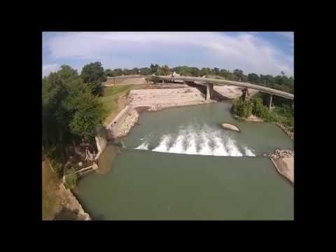 Luling Texas dam on San Marcos river and Zedler Mill