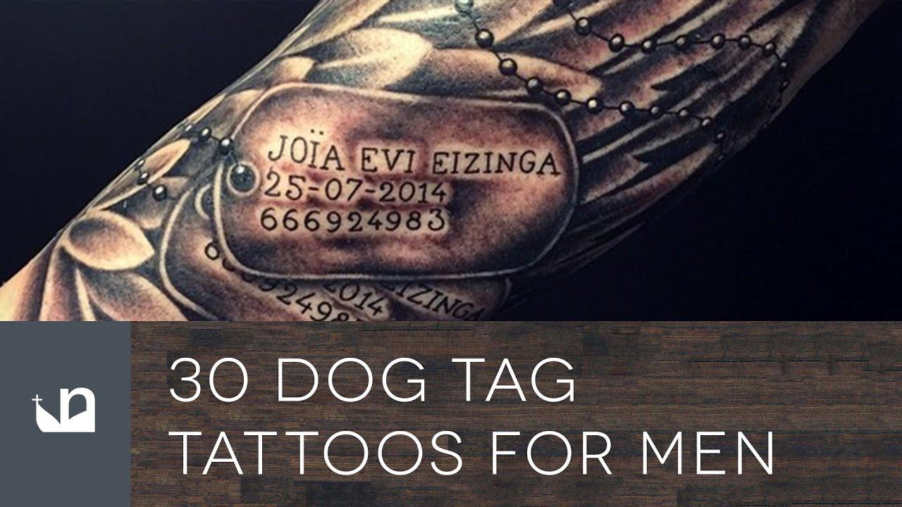 30 Dog Tag Tattoos For Men – Masculine Design Ideas
