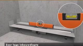 Easy Drain Modulo Design douchegoot installeren
