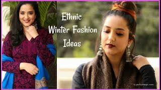 Indian Ethnic Winter Fashion Ideas | Ethnic Winter Wear Lookbook | Perkymegs
