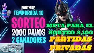 ✔️🔴 PRIVATE PARTIES #REGALANDO PASS. BUT 3 100 #PREMIOS!#SKIN-FORTNITE POUR SUBSCRIBERS✔️2