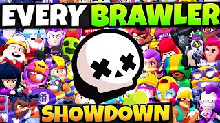 Playing ALL 37 BRAWLERS in SHOWDOWN! Can We Win EVERY Game?!