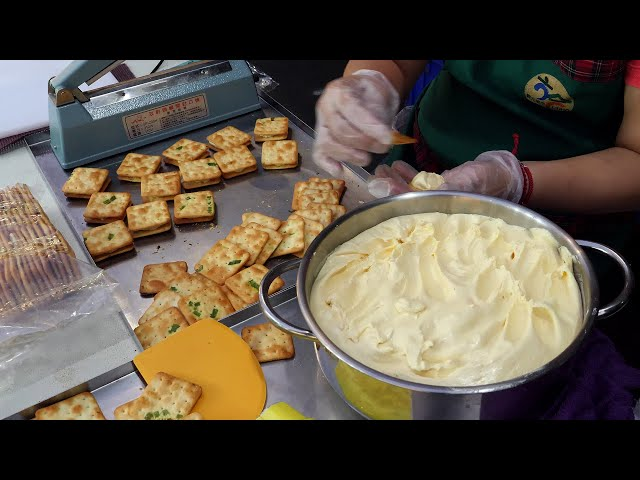 대만 수제 밀크 카라멜 비스킷 homemade milk caramel biscuits / taiwanese street food