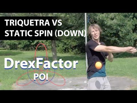 Poi Tutorial: Triquetra vs Static Spin (Down)