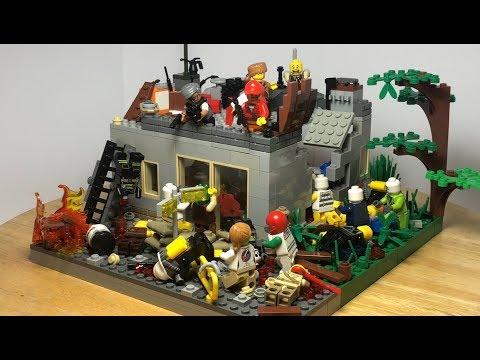 Лего Самоделка Зомби Апокалипсис! Оружейный Магазин! Сражение с ОРДОЙ Зомби!