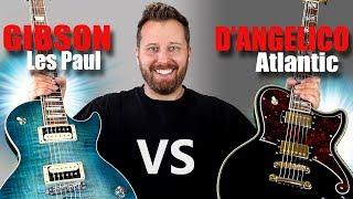 LES PAUL vs D'Angelico ATLANTIC! - Guitar Tone Comparison!