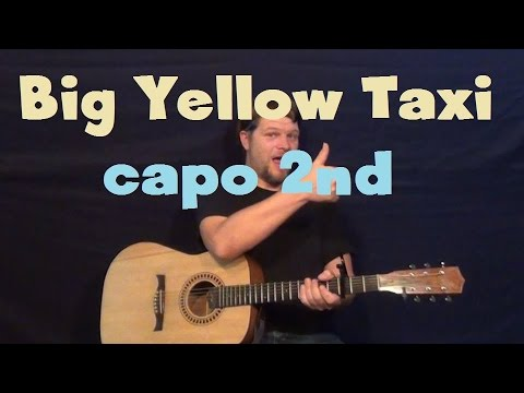 how to play big yellow taxi counting crows