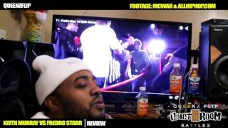 QUEENZFLIP - KEITH MURRAY VS FREDRO STARR REVIEW - OMG