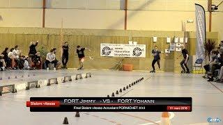 Slalom Vitesse roller Jimmy FORT - VS - Yohann FORT
