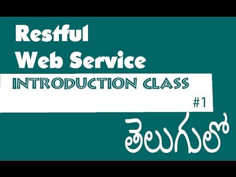 Restful Web Services Tutorial In Telugu...