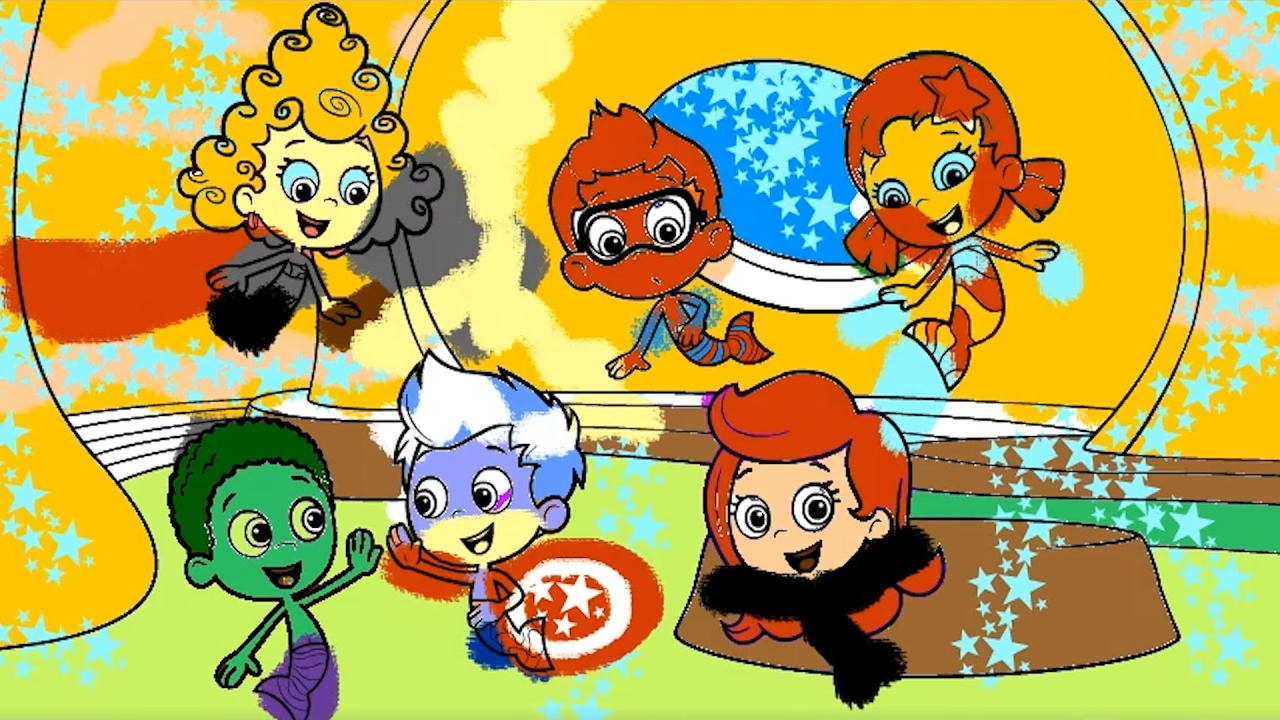 Bubble Guppies Marvel Avengers Superheroes IRL Coloring Book Learn Colors Pages