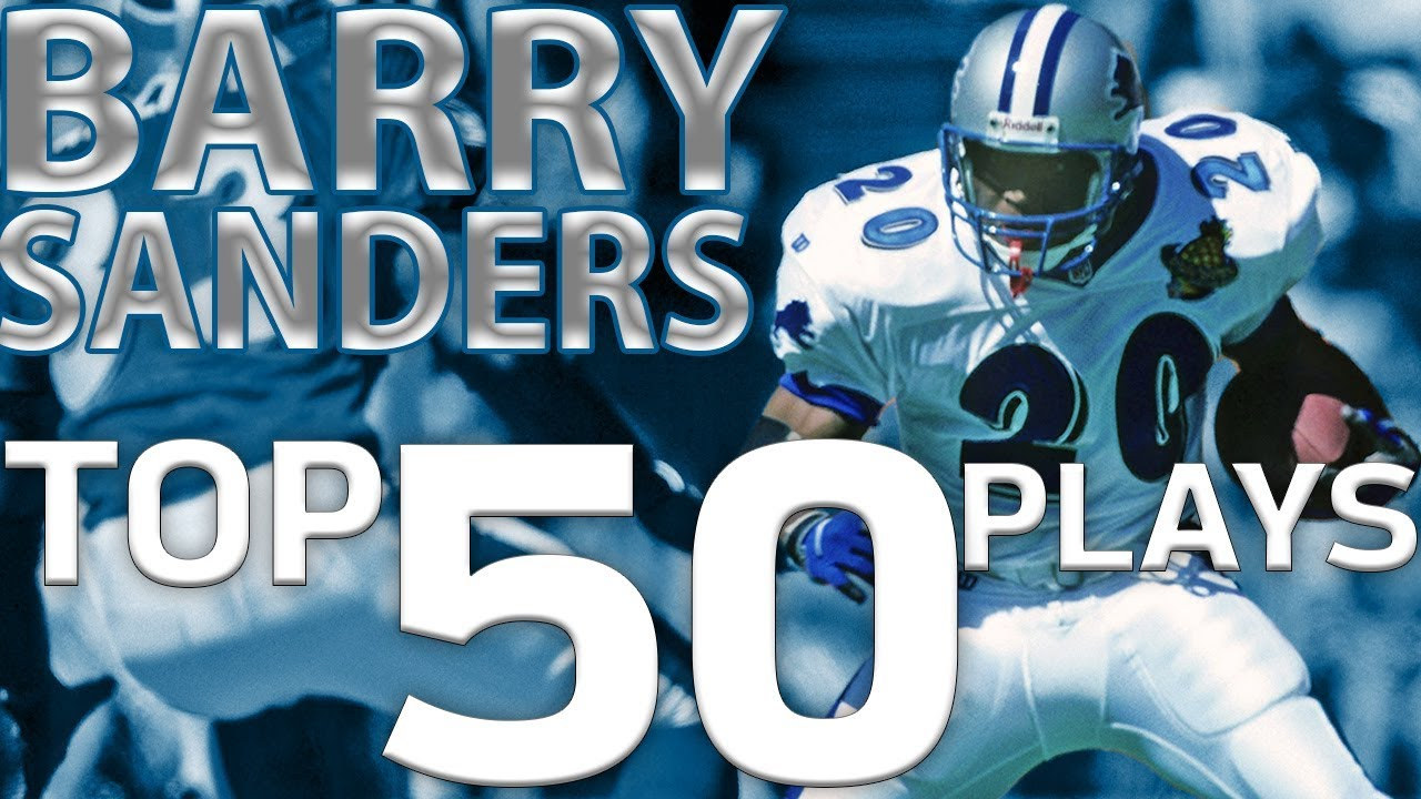 Barry Sanders Top 50 Most Ridiculous Plays Of All Time Nfl Highlights