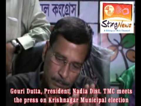 GOURI DUTTA, NADIA DIST  TMC PRESIDENT MEETS THE PRESS ON KRISHNAGAR MUNICIPAL ELECTION
