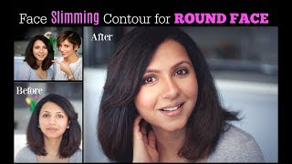 ROUND FACE MAKEUP TUTORIAL: How to cream contour and highlight/ Blushwithme-Parmita