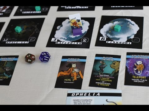 Space Cats Fight Fascism: A Cooperative Board Game - Overview Video