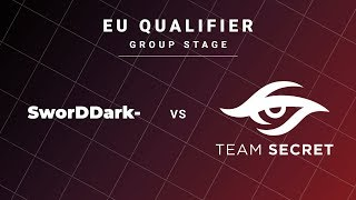 SworDDarK- vs Team Secret Game 2 - DreamLeague S13 EU Qualifiers: Group Stage