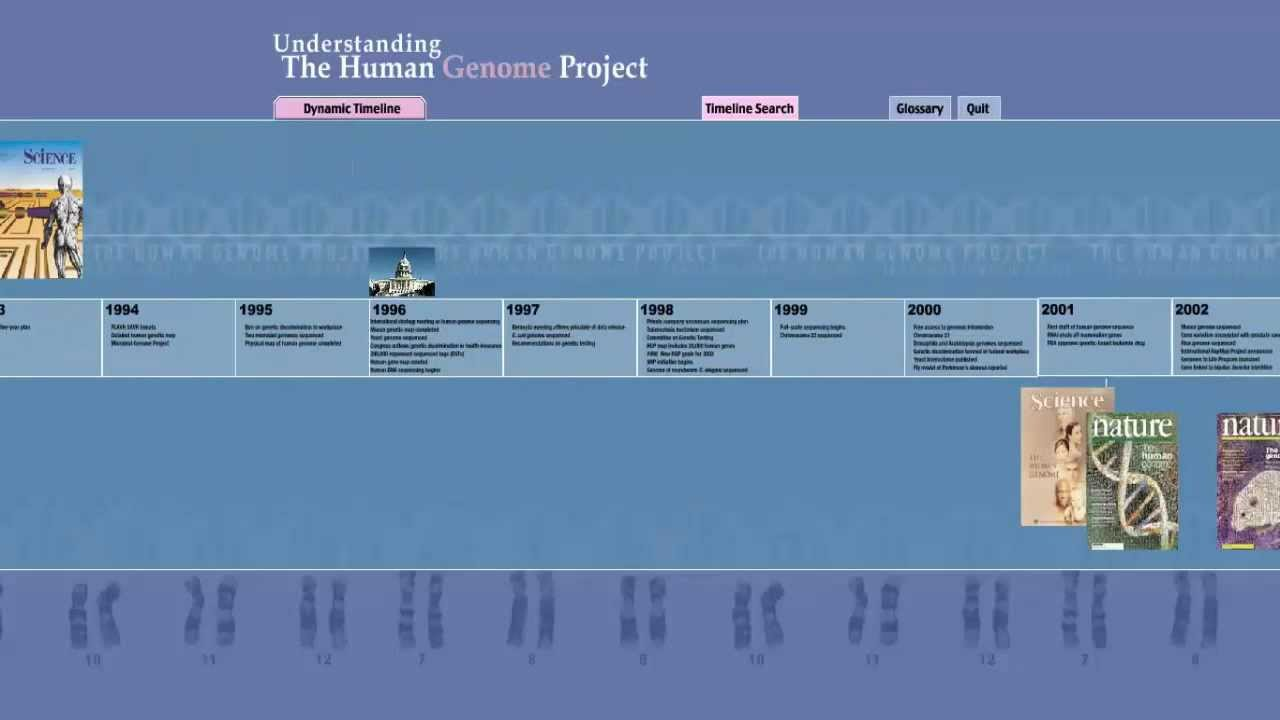 human genome project - timeline