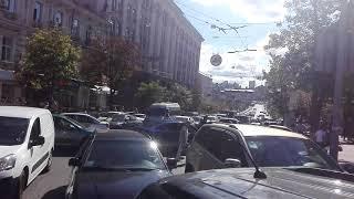 Киев парализовали огромные пробки из-за репетиции парада, 22.08.2018