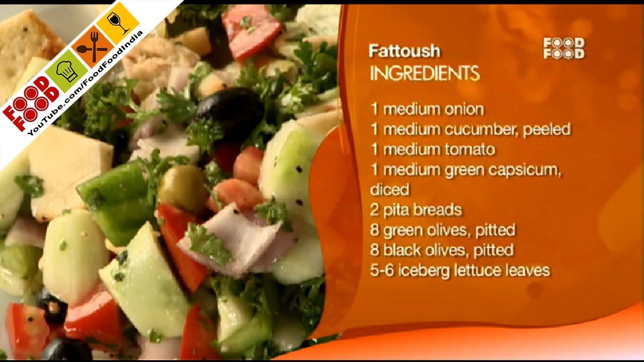 Fattoush lebanese sanjeev kapoors kitchen youtube forumfinder Gallery