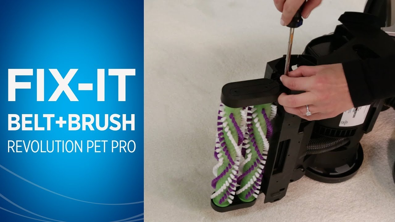 How To Change The Belts And Brush Roll On Proheat 2x Revolution Pet Pro Bissell