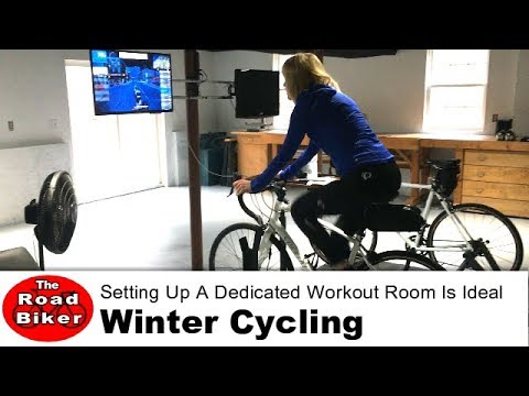 Winter Cycling Training | Dedicated Workout Space Wahoo Kickr Cycleops Zwift | Gopro Video