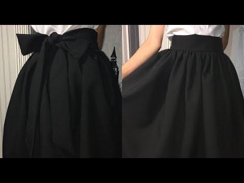 ❤DIY: Модная пышная юбка с бантом | Юбка Татьянка на поясе❤