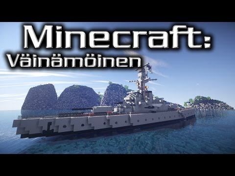 Minecraft: Coastal Defence Ship Tutorial (Väinämöinen)