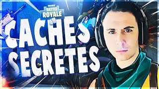 DECOUVERTE DES CACHES SECRETES ET DE LA FUSÉE ! ► Fortnite: Battle Royale