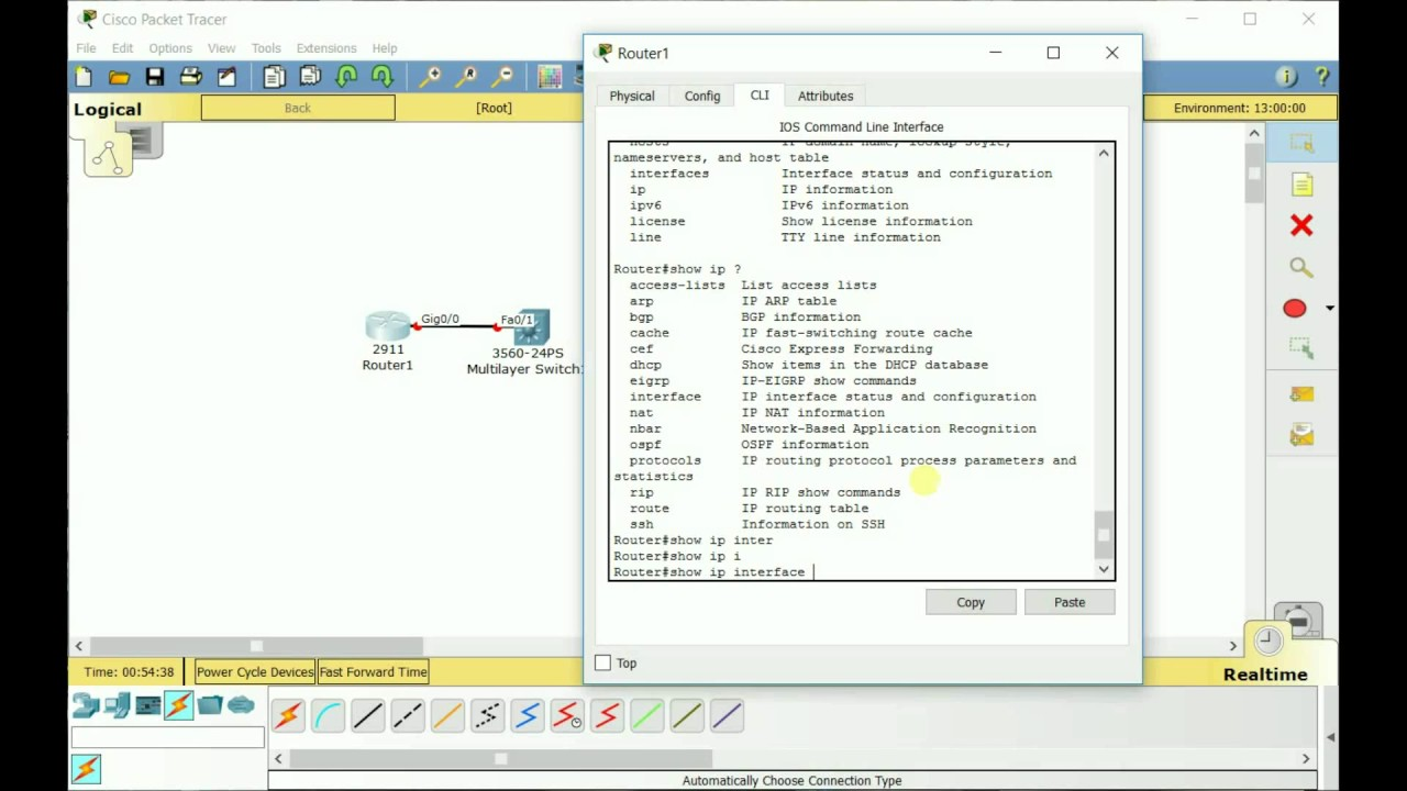 Intro to Cisco CLI and Packet Tracer