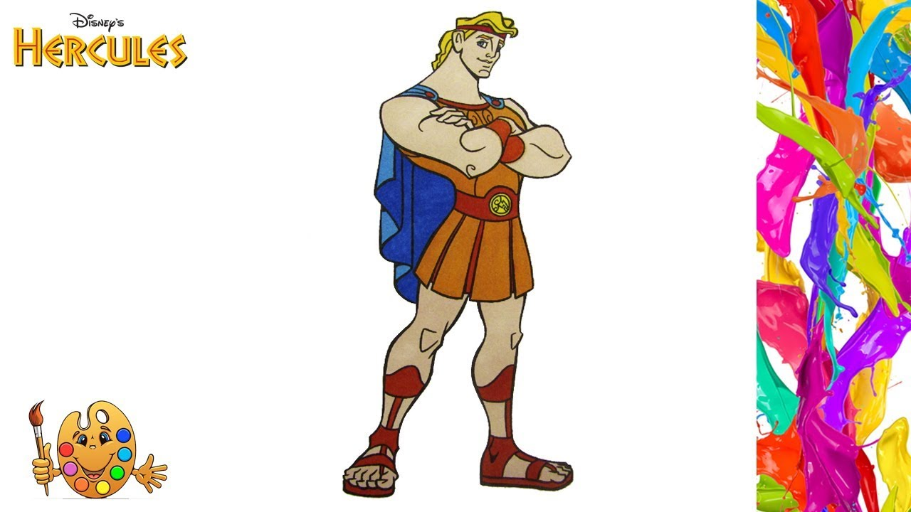 Hercules Coloring Pages Coloring Book Youtube