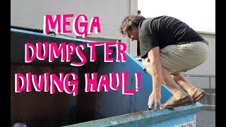 MASSIVE DUMPSTER DIVING ~ HUGE MEGA HAUL FROM GAMESTOP, PLUS PET STORE AND STAPLES #gamestopdumpster