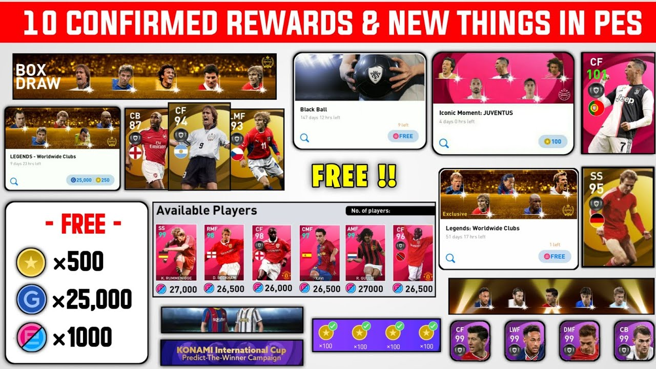 10 CONFIRMED REWARDS AND NEW EXCITING THINGS IN THIS WEEK  | PES 2021 MOBILE