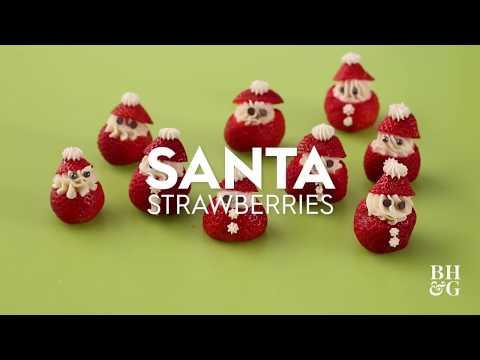 Santa Strawberries  | Fun With Food | Better Homes & Gardens