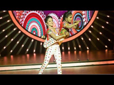 D4 Junior Vs Senior I Saniya & Isha's Dandiya performance I Mazhavil Manorama