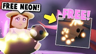 HOW TO GET A FREE NEON PET IN ADOPT ME NEW UPDATE! (Roblox)