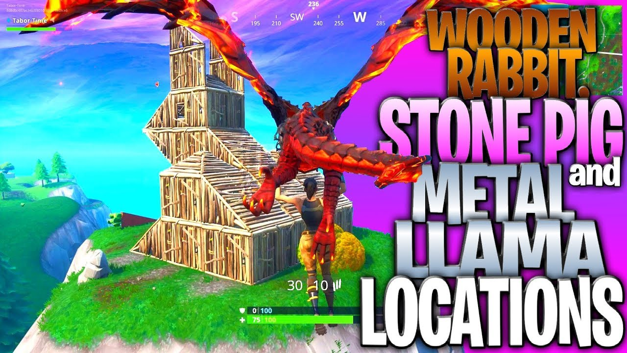 Watch Wooden Rabbit Stone Pig And Metal Llama Locations Fortnite
